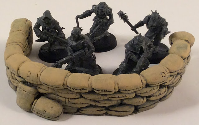 Sandbag Terrain for 40K by 6 Squared Studios