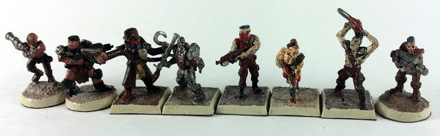 Assembled post Apocalyptic Miniatures Crew