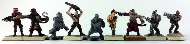 Miniature Scale Comparison RAFM, Warzone, GW, Reaper Miniatures
