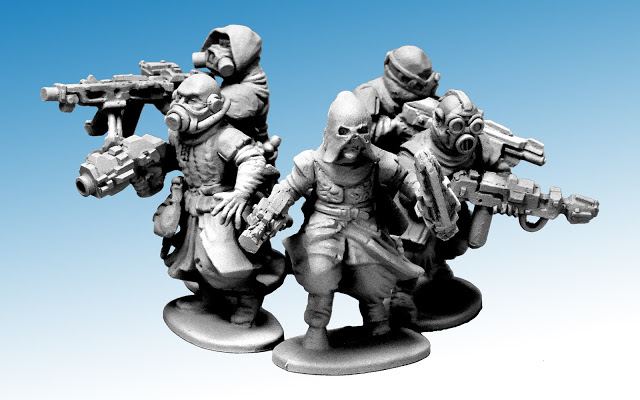 Cultist Sprue with Sci-fi Weapons by North Star Military Figures