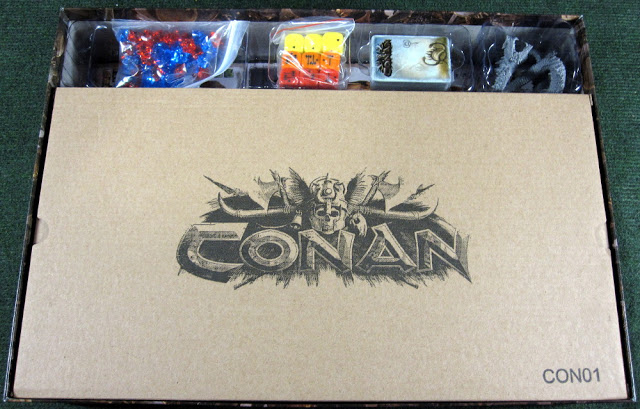 Conan Board Game Unboxing retail version