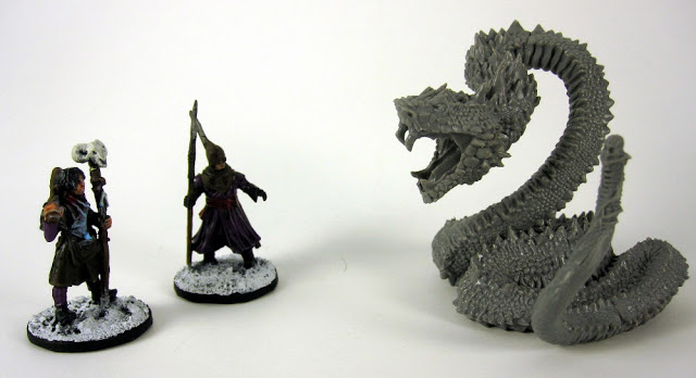 Frostgrave Battle Scene using a Conan Snake Monster