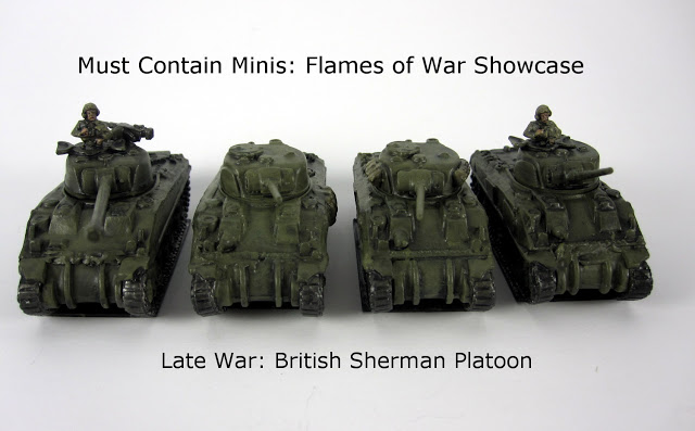 4 British Sherman Tanks