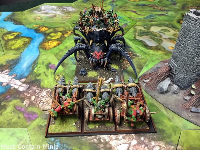 TerraTiles at Phoenix Games - setup for Warhammer / Kings of War