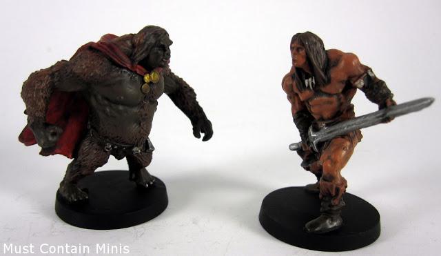 Conan Vs Ape Miniatures