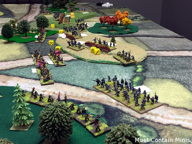 Playing Longstreet on a Cigar Box Battle Mat - Review