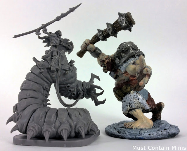 Scale Comparison of Undead (Waiqar) Miniatures in Runewars