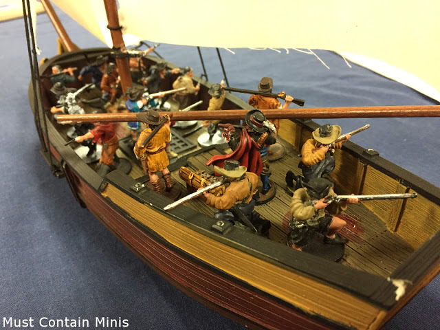 Firelock Games Blood & Plunder ship with crew - Sloop