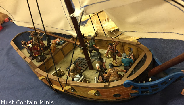 Firelock Games Blood & Plunder ship with crew