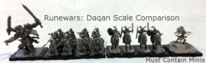 Runewars Miniatures Game Scale Comparison (Part 2)