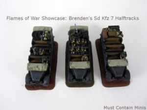 Brenden's Sd Kfz 7 Halftracks: Flames of War Showcase