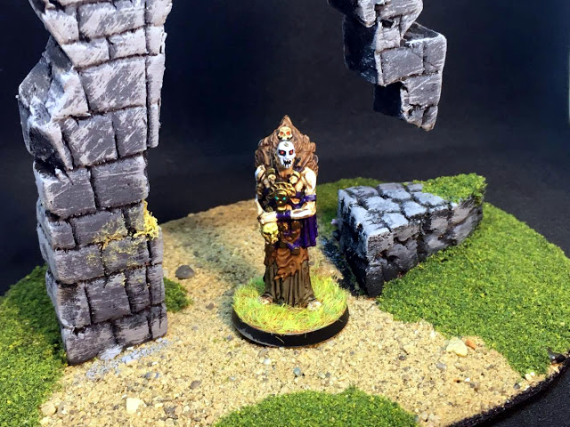 Painted Miniatures from Conan the Board Game - Necromancer