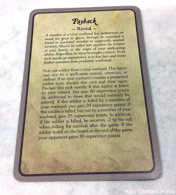Sample Ulterior Motives Card for Frostgrave
