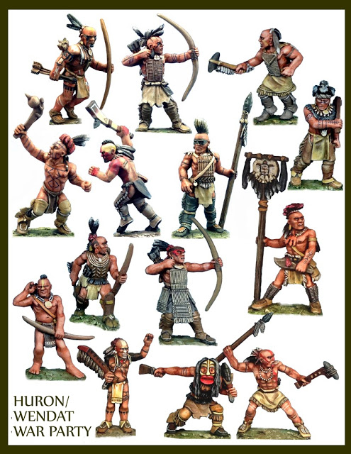 Miniature Huron Warriors
