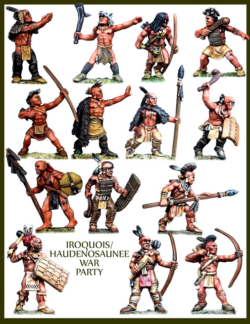 Miniature Iroquois Warriors