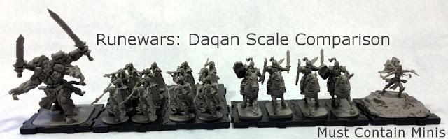 Scale Comparison of Miniatures in Runewars