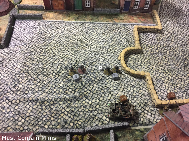 Germans advance on a Universal Carrier - Bolt Action Battle Report