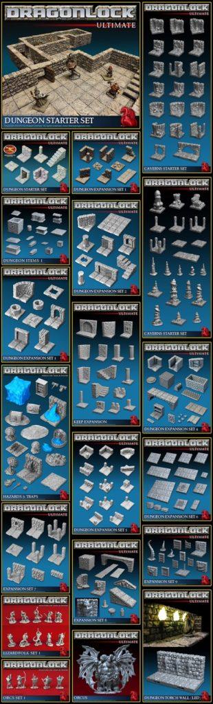 DRAGONLOCK 3D Dungeon Tiles