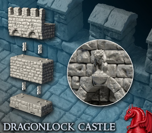 picture regarding 3d Printable Terrain called 3D Revealed Terrain - DRAGONLOCK 3 Kickstarter - Ought to Involve