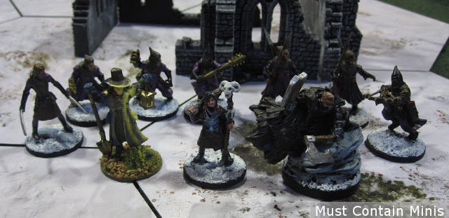 The Necromancer and his warband in Frostgrave
