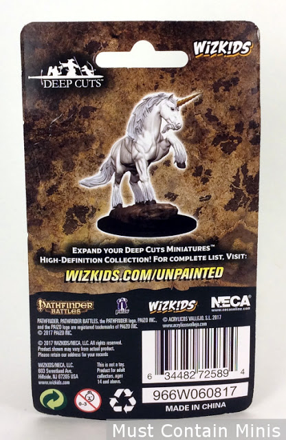 Pathfinder Unicorn Miniature Packaging - Rear