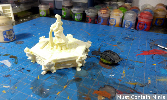 A 3D printed fountain for miniature wargames and rpgs