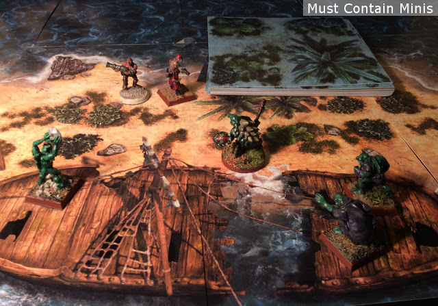 32mm miniatures on map tiles