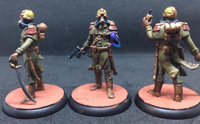 Painted Trederran Lieutenants Shadows of Brimstone