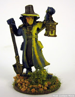 Painting an Undertaker by Reaper Miniatures for Frostgrave - What not to do