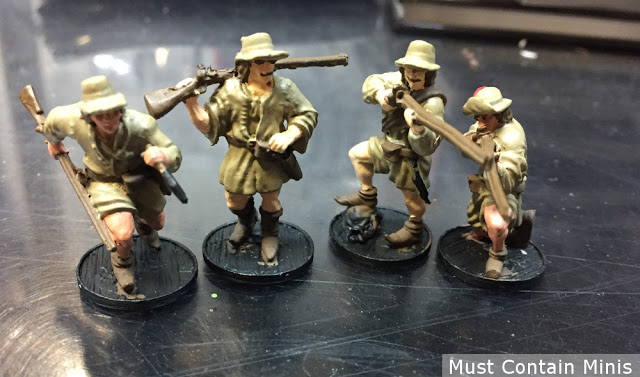 Painting up French Boucaniers for Blood & Plunder