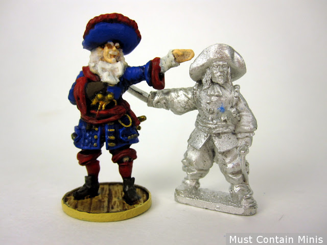 Scale Comparison Wargames Foundry to Firelock Games - Miniature Captains - Pirates
