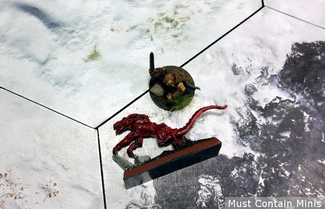 Frostgrave Barbarian Kills a Demon