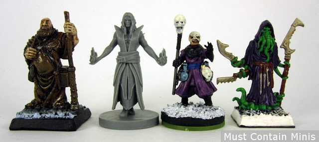 Scale Comparison - Frostgrave to Reaper Miniatures to Incantris Sorcerer