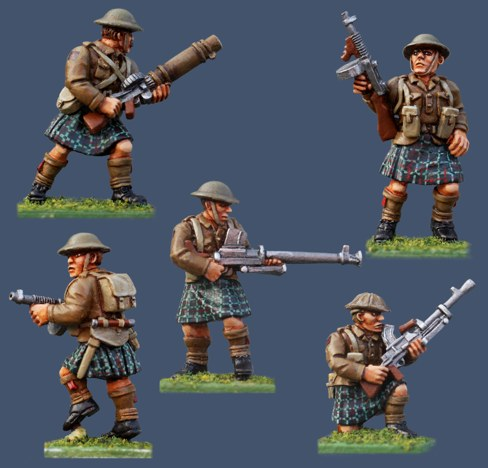 Painted Highland Infantry