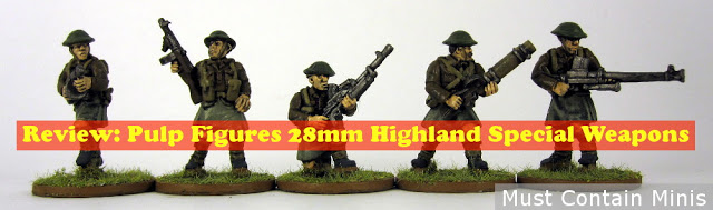 Review of Pulp Figures WW2 British Highland Special Weapons Miniatures