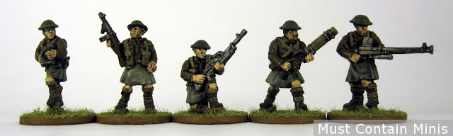 WW2 Soliders in Kilts Painted