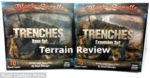 Review of Black Scrolls Games Printed Trenches for Miniature Wargaming