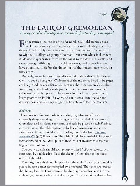 The Lair of Gremolean a Cooperative Dragon Hunting Scenario for Frostgrave