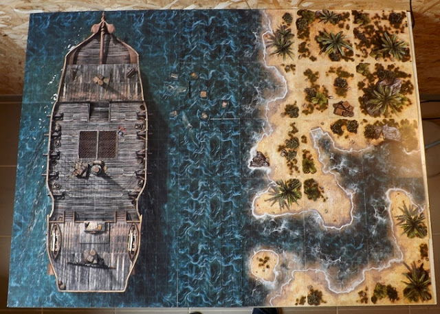 Gaming Tiles for Ghost Archipelago or Blood & Plunder