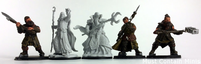Scale Comarison of Osprey Games Frostgrave Barbarian Miniatures to Wiz-Kids Miniatures