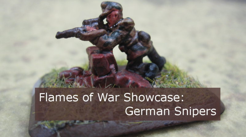Major Bruno Koenig - Sniper Showcase for Flames of War