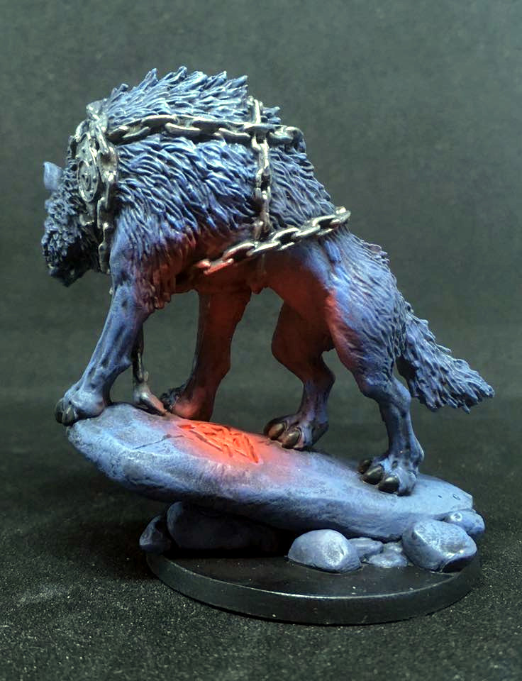 Blood Rage Wolf from the side.
