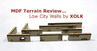 MDF Terrain Review of Walls for 28mm games like Bolt Action and Blood & Plunder