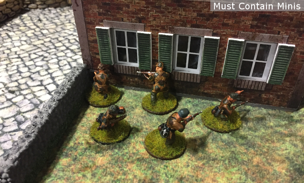 Bolt Action - Unit hides behind a house