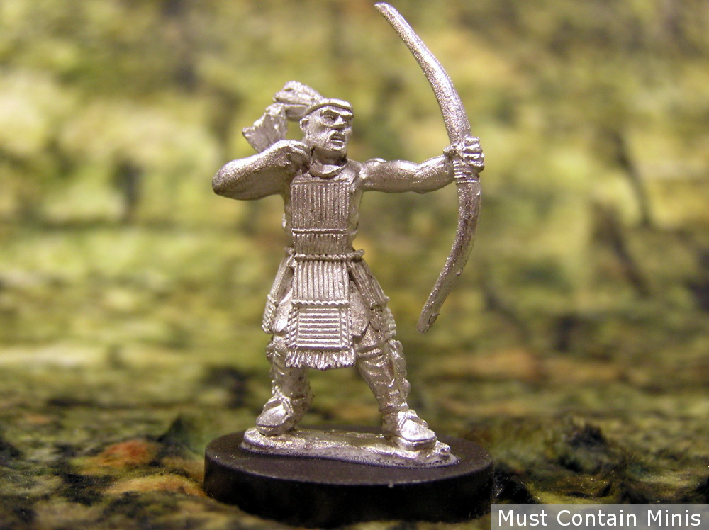 An Unpainted Huron Warrior. As you can see, this is a really nice looking model!