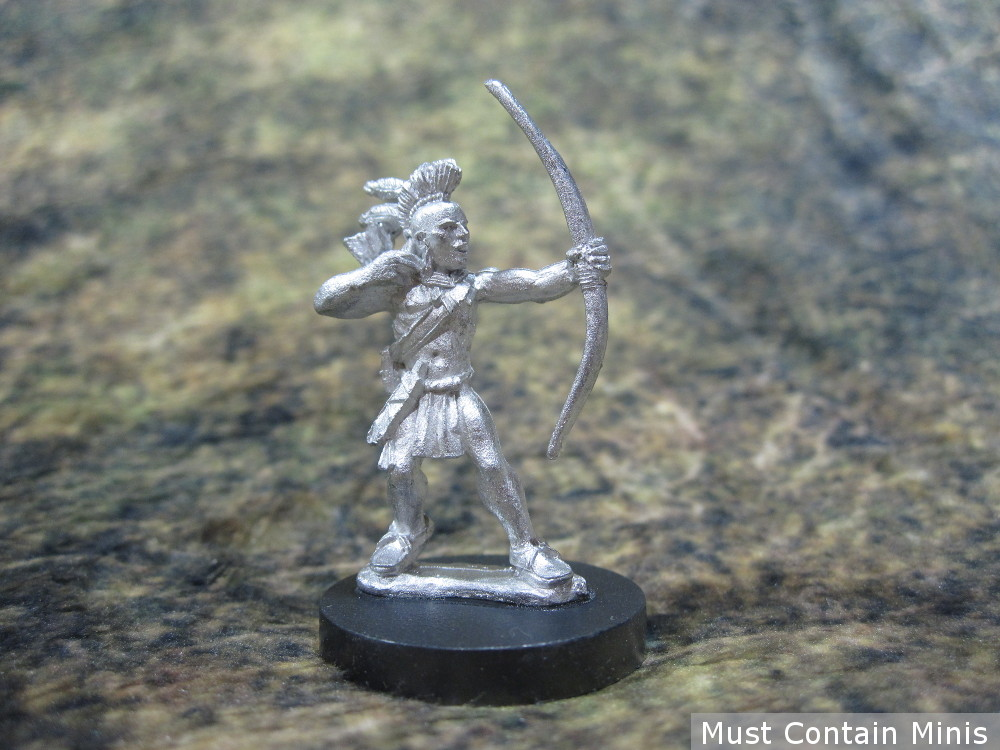 28mm Iroquois Warrior Miniature armed with a bow