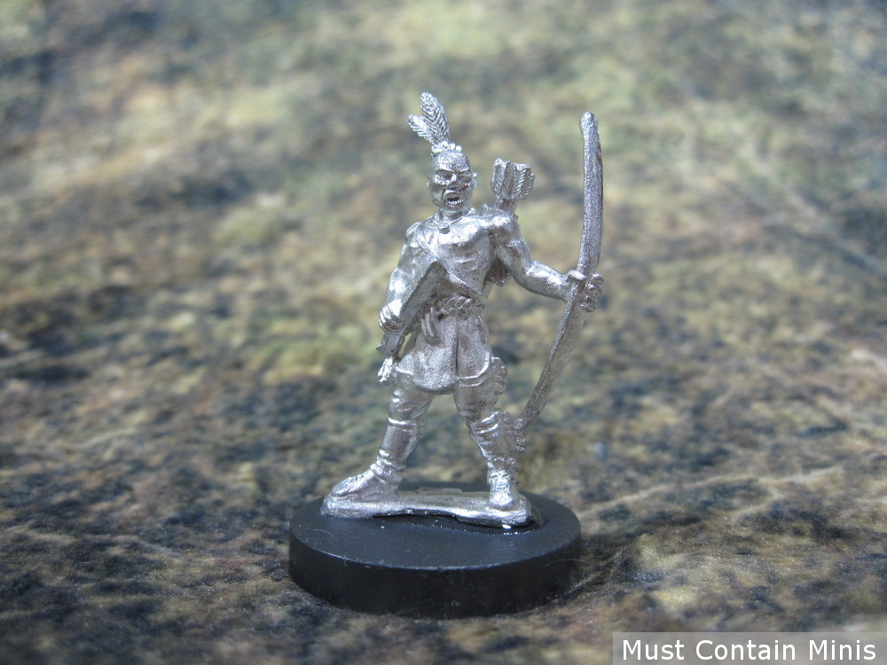 A Northern Native American Warrior armed with a Bow and Club - 28mm Historical Miniature