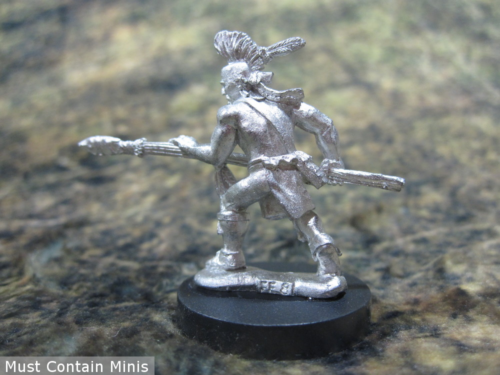 Iroquois Spear man Miniature in 28mm
