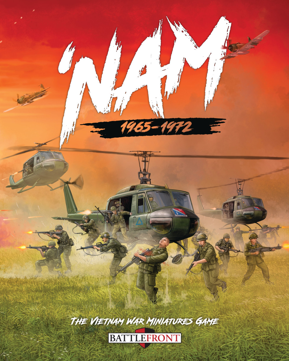 Cover of 'NAM: The Vietnam War Miniatures Game by Osprey Games and BattleFront