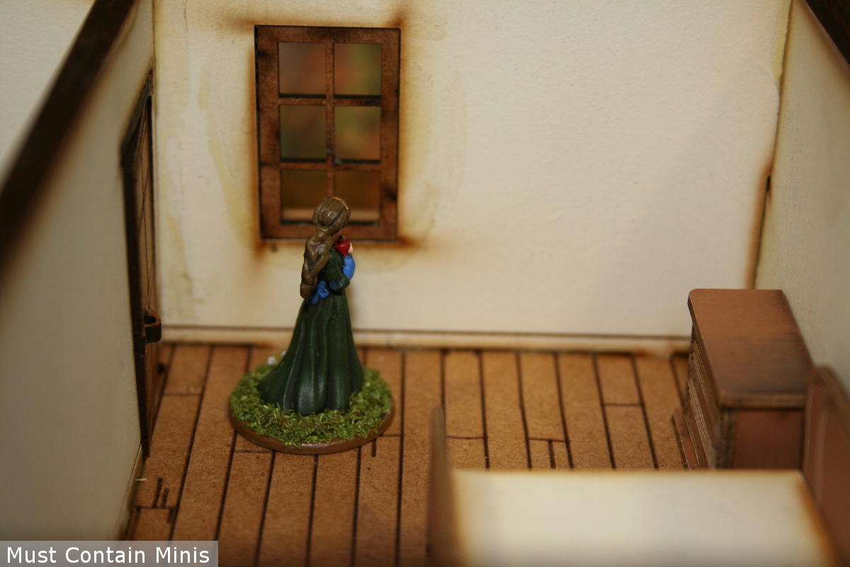 28mm miniature in a 4Ground MDF House